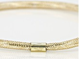 10k Yellow Gold Mesh Bangle Bracelet 2.5mm