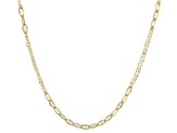 10k Yellow Gold Hollow Mariner Link Chain Necklace 20 inch