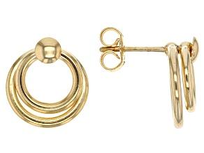 10k Yellow Gold Hollow Stud Earrings