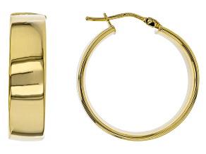 10k Yellow Gold Tube Hoop Earrings