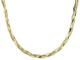 10k Yellow Gold Herringbone Link Necklace 18 inch