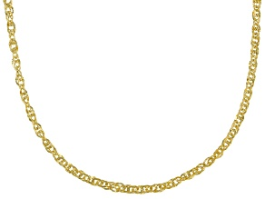 10k Yellow Gold Diamond Cut 1.8MM Double Torchon Link 18 Inch Chain Necklace