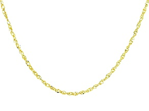10k Yellow Gold Designer Link Chain Necklace 20 inch