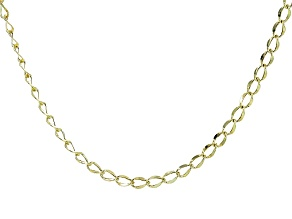 10k Yellow Gold Wave Mirror Grumette Link 24 inch Chain Necklace