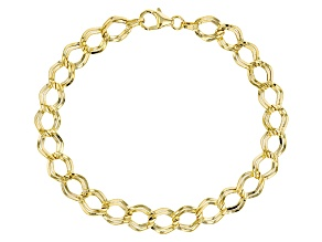 10k Yellow Gold Marquise Link Bracelet 7.5 inch