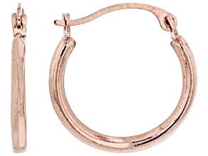 10k Rose Gold Tube Hoop Earrings 1.5mm Gauge