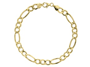 14k Yellow Gold Figaro Bracelet 7mm