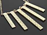 14k Yellow Gold Bar Necklace 17 inch