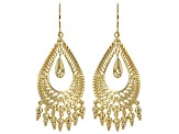 10k Yellow Gold Teardrop Dangle Earrings