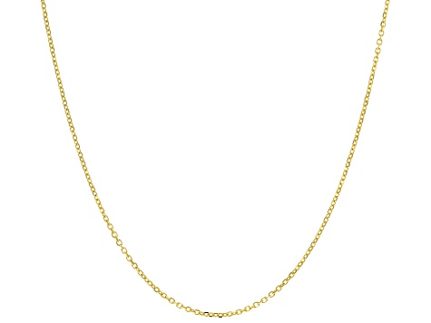 Precious Stars 14k Yellow Gold 2.1-mm Rolo Cable Pendant Chain Necklace