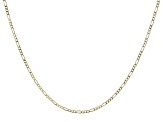 14k Yellow Gold Figaro Chain Necklace 20 inch