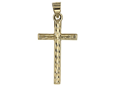 10k Yellow Gold Hollow Cross Pendant