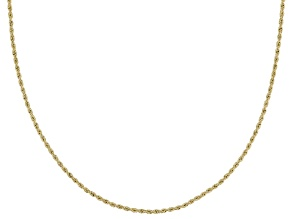10k Yellow Gold Hollow Rope Chain Necklace