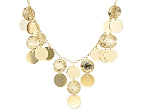 10k Yellow Gold Multi-Disk Necklace 17 inch