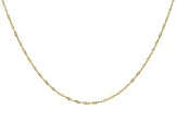 14k Yellow Gold Singapore Chain Necklace 24 inch