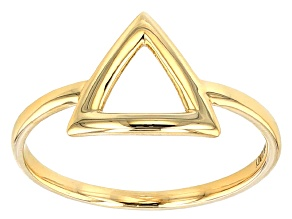 14k Yellow Gold Hollow Polished Triangle Band Ring