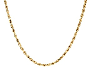 10k Yellow Gold Rope Chain 20 inch