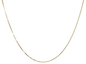 14k Yellow Gold Box Chain 24 inch