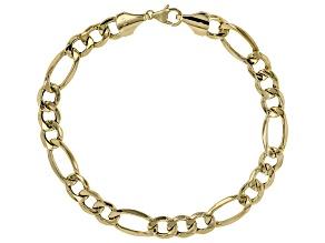 14K Yellow Gold Figaro Bracelet 9 Inch