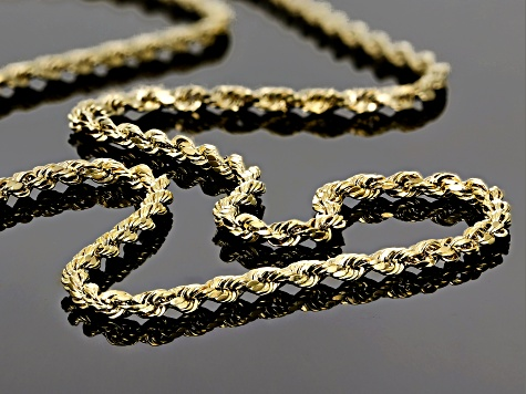 14K Yellow Gold 2MM Rope Chain 18 Inch