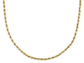 14K Yellow Gold 2MM Rope Chain 20 Inch