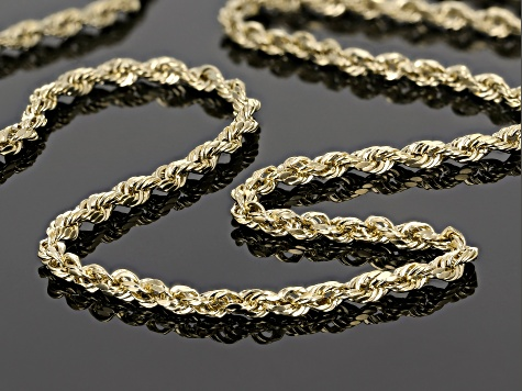 14k yellow gold 2.5mm rope chain