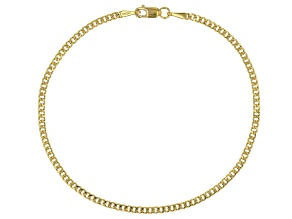 14K Yellow Gold Curb Link Bracelet 8 Inch