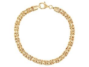 10K Yellow Gold Byzantine Bracelet 7.5 Inch