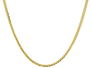 14K Yellow Gold 2MM Wheat Chain Necklace 18 Inch