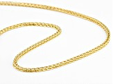 14K Yellow Gold 2MM Wheat Chain Necklace 20 Inch