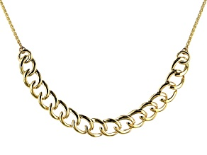 10K Yellow Gold Open Link Crossover Cable Sliding Adjustable Necklace. 26 inches in length.