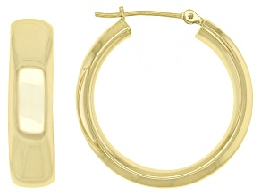 10K Yellow Gold 19MM Polished Hoop Earrings