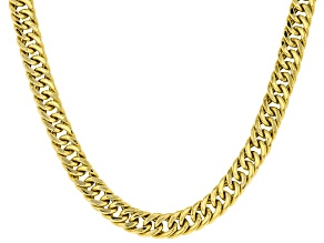 10KT Yellow Gold Cuban Link Chain Necklace 22