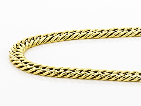 10K Yellow Gold Cuban Link Chain Necklace 22 Inches