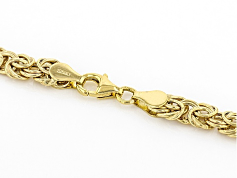 10K Yellow Gold 6.8MM Byzantine Necklace 18 Inches