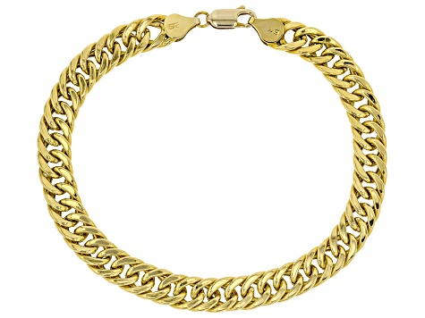 10K Yellow Gold Cuban Link Bracelet 8.5 Inches