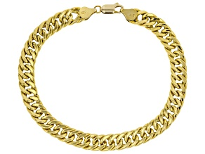 10KT Yellow Gold Cuban Link Bracelet 8.5