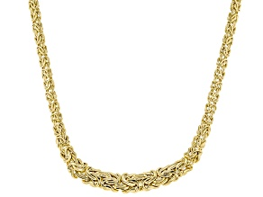 10KT Yellow Gold Byzantine Chain 18