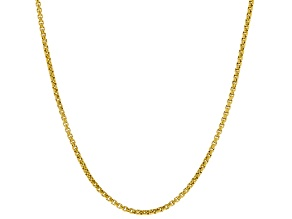 14KT Yellow Gold Rounded Box Chain 18