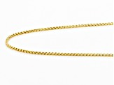 14K Yellow Gold Rounded Box Chain 18 Inches