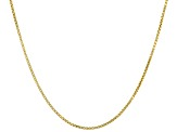 14K Yellow Gold Box Chain Necklace 22