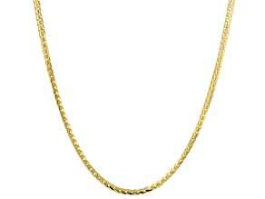 14K Yellow Gold Foxtail 24