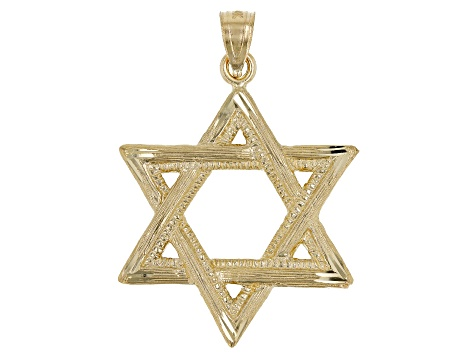 14KT Yellow Gold Polished Star of David Pendant