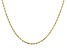 14K Yellow Gold Solid Rope Necklace 22 Inches