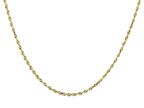 14K Yellow Gold Solid Rope Necklace 24 Inches