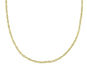 10K Yellow Gold Rope Chain Necklace 18 Inch