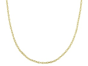 10KT Yellow Gold Rope Chain Necklace 22