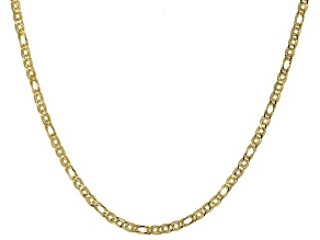 10K Yellow Gold Multi Woven Oval Link Necklace 18 Inch