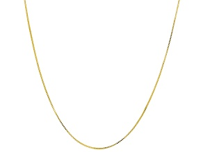 10K Yellow Gold Polished Box Chain Necklace 20 Inch.