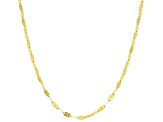 14k Yellow Gold Plaque Station Necklace 18 inch
